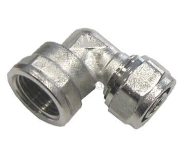 """Коляно Ф16х3/4"""" ЖЕНСКО за тръба с алуминиева вложка"""