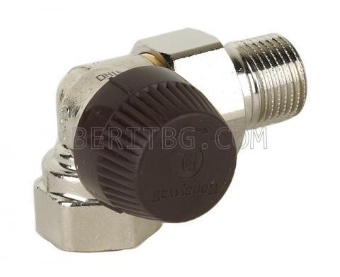 Термостатен вентил Honeywell1/2''/ъглов ляв/